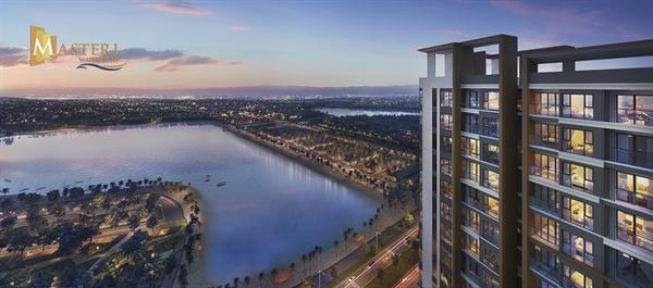 Tầm nhìn đắt giá hướng trực diện biển hồ tại dự án Masteri Waterfront